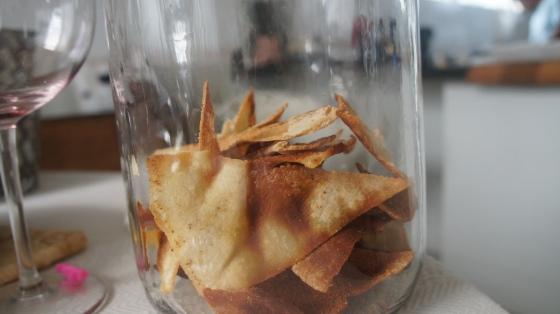 Torradinha de pão árabe
